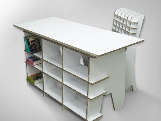 Картонени мебели - маса и стол