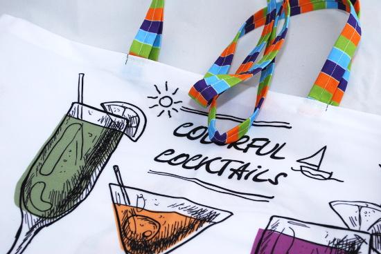 плажна чанта в картонена опаковка