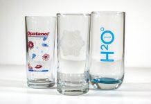 стъклени чаши с печат
