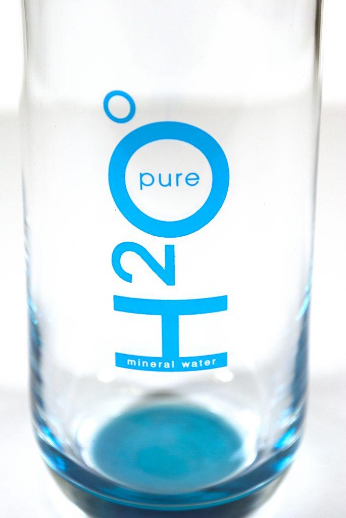 Стъклена чаша с печат