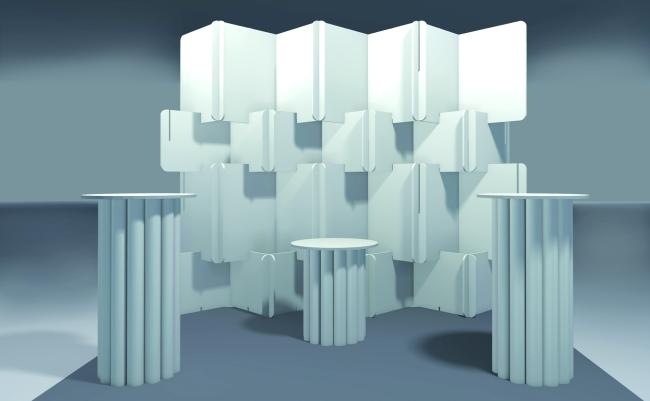 Мебели и модули от картон