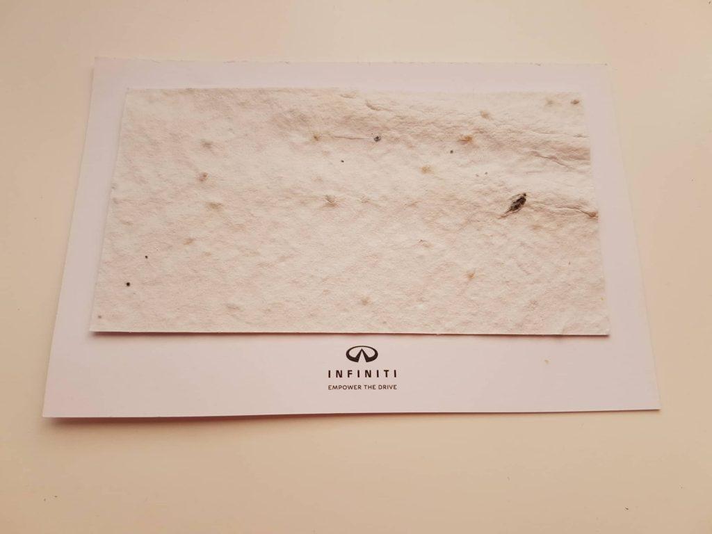 хартия със семена